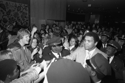 Muhammad Ali's Visit to the National Museum of History and Technology, 1976. Photo Credit: Smithsonian Archives