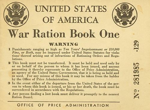 Ration Book Warning