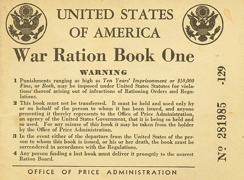 Ration Book Warning