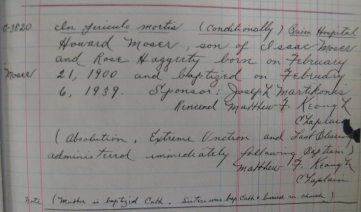 Moser_Baptism record 1939