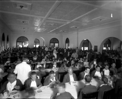 264_Center_Dining_Room_Men_at_Tables_8x10