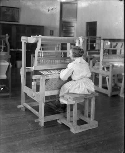532_Woman_Working_at_Loom_8x10