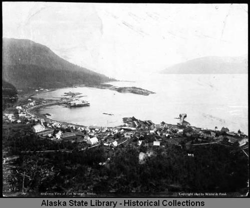 Fort Wrangell Birds Eye View 1895