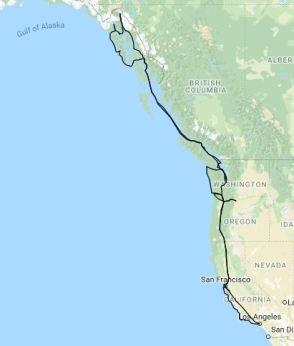 Felter Travel Map