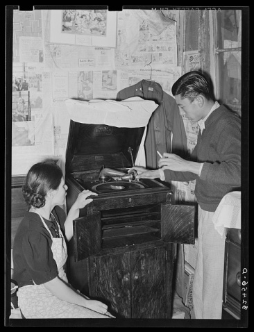 Mexican Boy and Girl Phonograph
