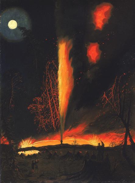 Rouseville Burning Well